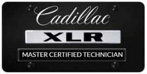Cadillac XLR Master technician badge