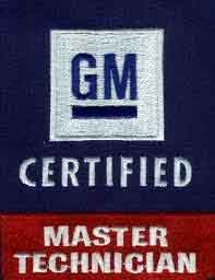 GM Certified Master Technician badge